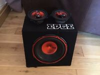 Edge Subwoofer with 2 12x9 side speakers