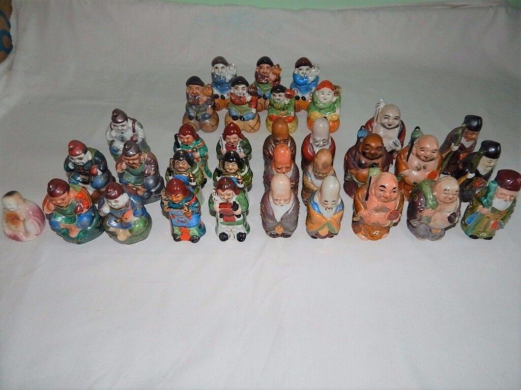 Glazed Porcelain Japanese Figurines