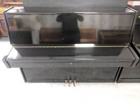 Stunning Polyester Black 'Kinsberg' Upright Console Piano - CAN DELIVER