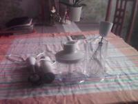 Breville UHO12 500w white hand blender set-used but in good condition.