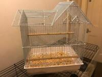 White bird cage + Free delivery