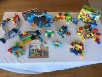 8 Sets of Lego Duplo Construction, Megabloks Thomas Trains, Disney Pixar Cars plus More!!