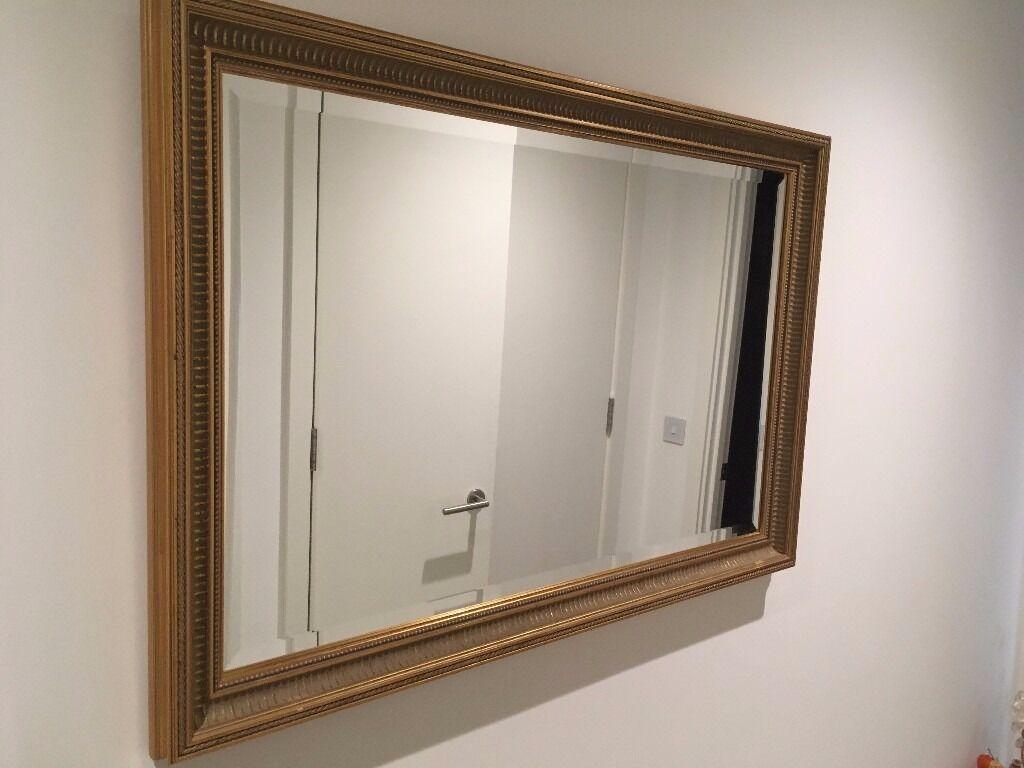 Large gold mirror - excellent condition - 95 cm x 55 cm