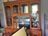 Teak coloured Display Cabinet