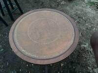 Antique/vintage leather table