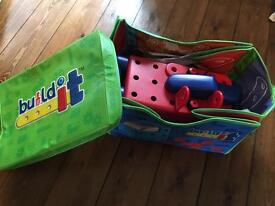 Early Learning Centre Build it Racing Car and Box/mat