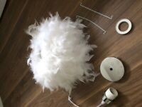 SOLD Feather ceiling light