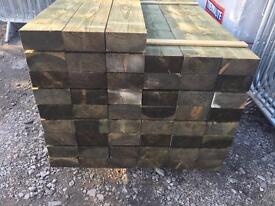 •New• Pressure Treated Wooden Railway Sleepers 🌲