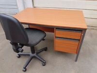 Quality office desk 2 drawers with office chair