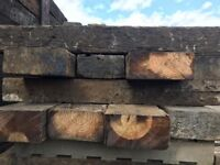 Off-cut Reclaimed railway sleepers treated and grade A