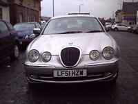 2001 51 JAGUAR S-TYPE 3.0 V6 SE AUTOMATIC ** ONLY 71300 MILES ** LOW MILES ** LEATHER INTERIOR **