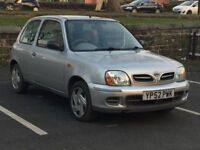 2003 NISSAN MICRA 1.0 * 3 DOOR * LOW MILEAGE * 1 YEAR MOT * 1 F/KEEPER * PART EX WELCOME * DELIVERY