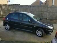 PEUGEOT 206 VERVE 1.4 PETROL BLACK LOW MILEAGE