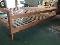 Solid wood stacking bedframes