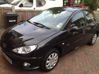 Peugeot 206, 2007 Model, 47k Miles only, 1.4,Black,1 year MOT,service History