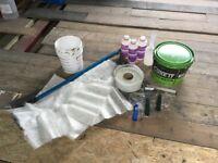 Fibreglass GRP Flat Roof Tools Accessories Catalyst Resin CSM
