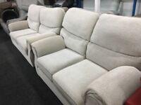 New/Ex Display Harveys Sullivan High back Fabric 3 Seater Sofa