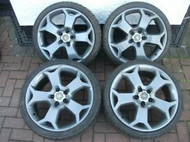 "Vauxhall Vectra/Astra/Zafira 19"" Inch VXR/GSI/SRI Snowflake Alloy Wheels & Tyres. **RE-FURBED**"
