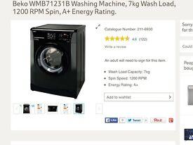 Beko 7kg black washing machine