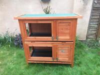 Brand new guinea pig / rabbit hutch: ideal for two pets!