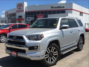 2015 Toyota 4Runner Limited AWD 7P w/ Leather, Navigation, Moonr