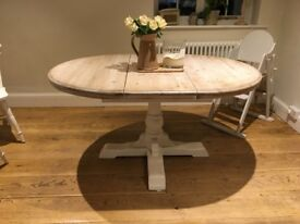 Solid Oak Farrow and Ball painted Table which extends