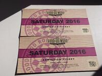 Goodwood Revival Saturday Tickets X 2 September 10th 2016