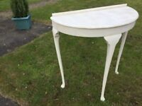 Two pretty painted Vintage tables