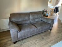 3 seater sofa (SCS - Cassie endurance range - mushroom/brown in colour)