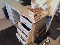 Lovely Grey Pine Desk