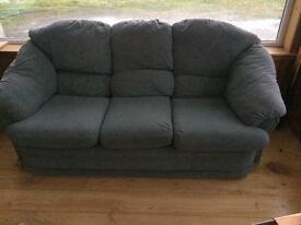 3 seater sofa and matching arm chairs