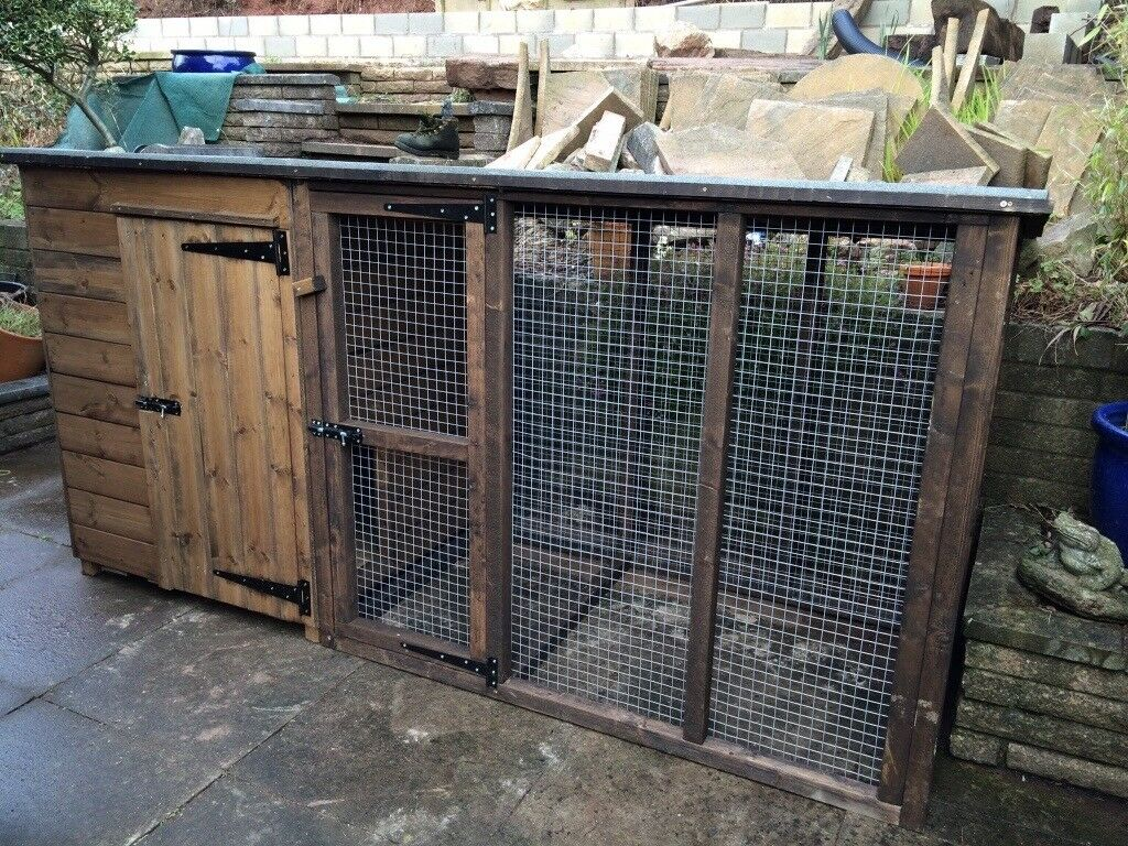 dog kennel u0026 run sold in leek staffordshire gumtree