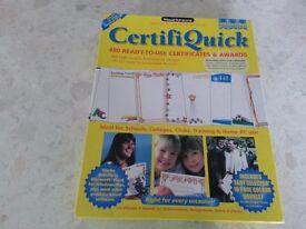 Certificate/Award designer CD