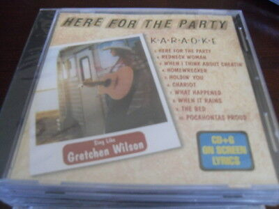 AMERICAN KARAOKE SUPPLY AKS-10001 GRETCHEN WILSON HERE FOR THE PARTY CD+G SEALED