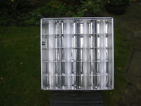 600 x 600 Recessed Grid Light Fittings, used, 40 in total, £5 each