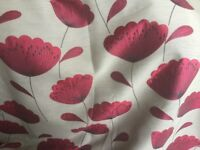 Fully lined great quality curtains. Red floral pattern.