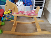 Lovely wooden rocking horse