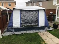 Driveway awning for motorhome