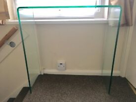 Designer curved glass console table / dressing table