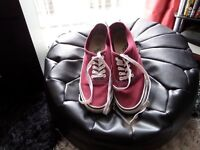 MENS MAROON CASUAL SHOES BY CEDAR WOOD STATE SIZE 9