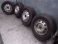 "Citroen Relay (2006-2010) 16"" 4x Steel Wheels + Tyres 225/75 R16 ref.AF6"