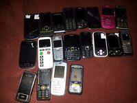 JOBLOT BUNDLE OF 20 MOBILE PHONES FOR SPARES OR REPAIRS