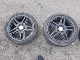 mercedes amg 18inch genuine alloys