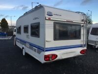 Free Air Awning!! Hobby De Luxe Easy UFE 460 - Fixed Bed. Spotless! Tricam Caravans, Dromore BT25