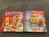 Hedbanz and speak out Board games