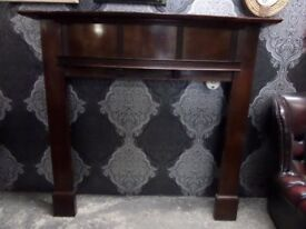 Beautiful Bow Fronted Vintage Wood Fire Surround - UK Delivery