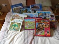 Jigsaw Puzzles 10 boxes various themes. All in very good con dition.