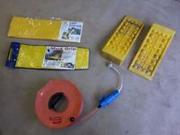 Caravan / Motorhome Electric cable, reel and connectors, levellers and grip tracks