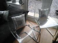 2 ikea clear chome £28 pair