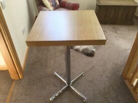 Oak bar table (x2)